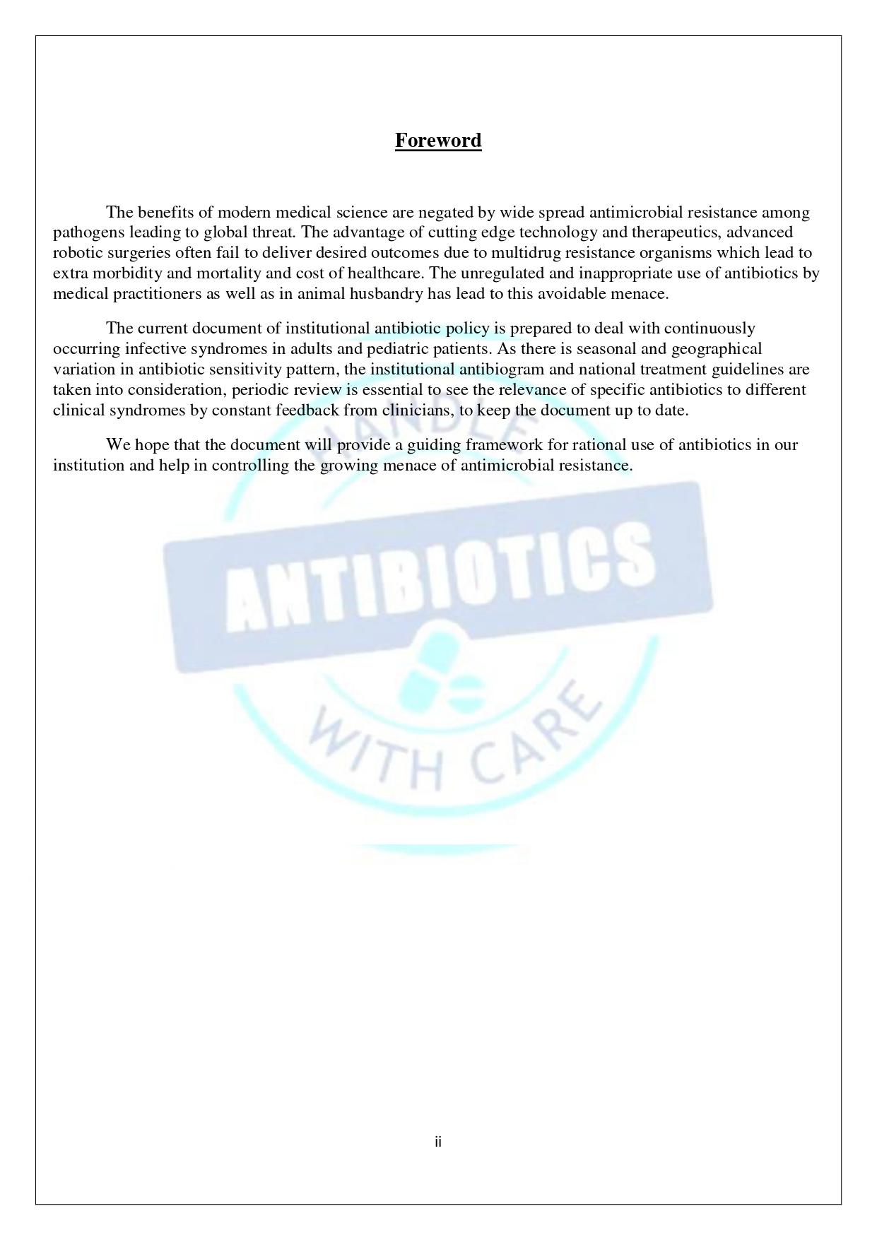 Antibiotic Policy